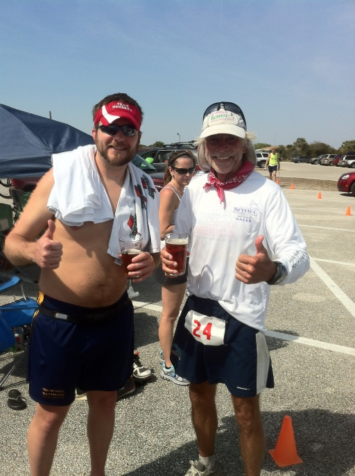 Our first DNF beers of the day: Justin Radley and Jim Schroeder.