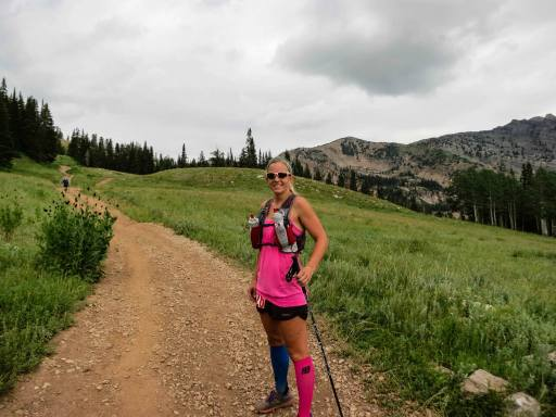 Michelle at the Speedgoat 50k this past July