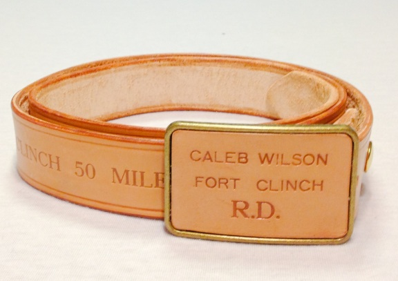 50 Mile Finishers also receive a buckle with the belt, although not quite as fancy.